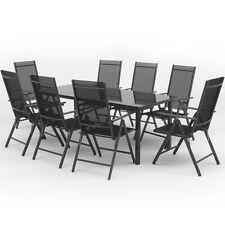 Alu Gartenmöbel 8+1 Sitzgruppe 190er Tisch Gartengarnitur Gartenset Sitzgarnitur
