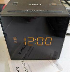 Sony ICF-C1 AM/FM Alarm Clock Radio - Black Works Manual (inventory A-4)