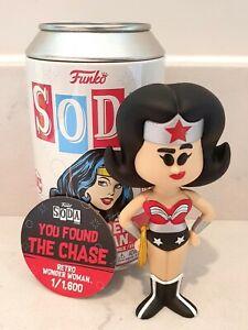 Funko Vinyl Soda Wonder Woman Chase 1/1,600 Black DC No Black Bag Or Bubblewrap