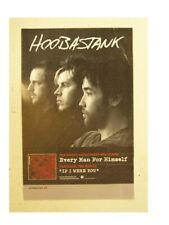 Hoobastank Poster Every Man For Himself Promo Mint