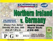 "Ticket - Northern Ireland v Germany 04.06.05 ""125 Year Anniversary Match"""