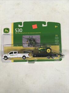 Ertl 1/64 John Deere 530 with Trailer & Ford Truck