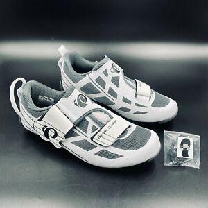 Pearl Izumi Tri Fly Select V6 White Shadow Grey Cycling Shoes, EUR 39 Women 7.5