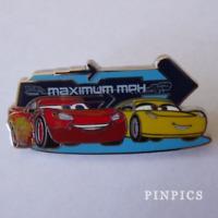 Disney Pin 122469 Lightning McQueen Cruz Ramirez Maximum MPH Cars 3 racecars