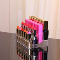 Acrylic 24 Lipstick Holder Display Cosmetic Organizer Makeup Case Storage Box