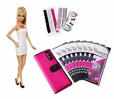 Barbie Interactive Fashion Design Maker With 8 Printable Sheets of Fabric & Doll