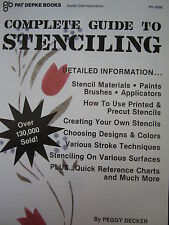 How To Stenciling Guide by Peggy Deckler New Unused Oop