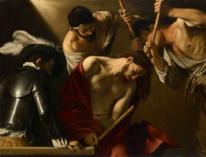 Michelangelo Caravaggio The Crowning with Thorns Giclee Canvas Print Paintings