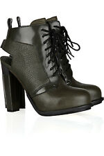 "SOLD OUT NEW ""DAKOTA"" TEXTURED LEATHER CUTOUT ALEXANDER WANG ANKLE BOOTIES (NWB)"