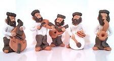 Cute Hasidic Jewish Klezmer Band Hassidic Folk Music Shtreimel Kleizmer Figurine