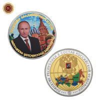WR Russian Silver Coin President Putin St. Basil's Cathedral Travel Souvenirs