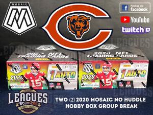 Bears | 2020 Panini Mosaic NO HUDDLE Hobby Box Football Two (2) Box Break