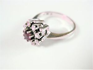 Ring White Gold 750 With Ruby And Diamonds, 4,32 G