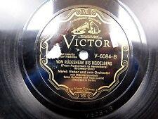 Merek Weber & Orchestra -Scroll Victor 78 RPM - Von Rudesheim Bis Heidelberg