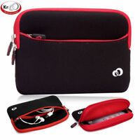KroO Small Neoprene Sleeve with Front Zipper Pocket for Most 7 to 8 Inch Tablet