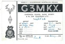 LOUGHBOROUGH - GARENDON SCHOOL A.T.C. QSL Card 1964 * G3MKX