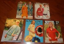 LOT OF 5 KNITKING MAGAZINES 1968 & 1969 VOL 5 NO 1 2 3 4 & 6 KNITTING VINTAGE