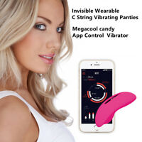 Women Super Vibrating Invisible Wearable Phone APP Remote Control Vibrator Panty