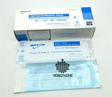 200pcs Zip Bags Medical Dental Autoclave Sterilize Pouc Pouches 90*260mm