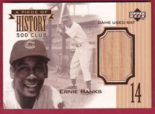 1999 Upper Deck A Piece of History 500 Club #EB Ernie Banks GAME USED BAT