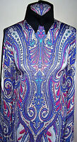 White and Purple Paisley Print Lycra Stretch Fabric 1 Yard 18 Inches