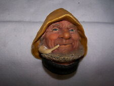"""Bossons Chalk Ware Hand Painted Head England """"Old Salt"""" C. 1971 #1032"""