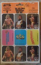 WWF Hulk Hulkamania Ultimate Warrior Ted Dibiase 36 Stickers Still Sealed 1991