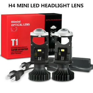 2X H4 9003 Mini Bi LED Projector Lens Hi/Lo Beam 80W 8000LM Headlight Retrofit