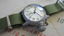 WW2 ELGIN MILITARY WATCH with USN BUSHIPS 300 FT WATER PROOF CANTEEN CASE
