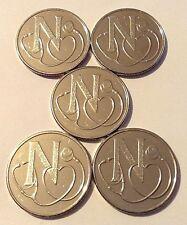 5 - 2018 10p Coins - A-Z Alphabet Letter N - NHS - National Health Service