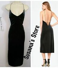 NWT bebe MARA VELVET SLIP DRESS SIZE M Exquisite sexy dress