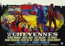 CHEYENNE AUTUMN Belgian movie poster JOHN FORD JAMES STEWART RAY ELSEVIERS 1964