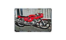 Cr750 Motorbike Sign Metal Retro Aged Aluminium Bike