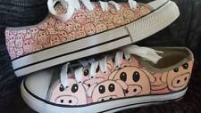 Pig Hand Painted Custom Shoes