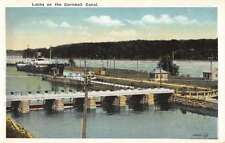 Cornwall Ontario Canada Canal Locks Antique Postcard K99319