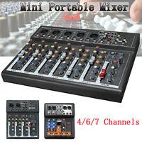 4/6/7 Channel  Live Studio Audio Mixer Party USB Mixing DJ Console KTV Record