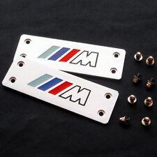 2Pcs Aluminum Car Floor Mat Carpet ///M Logo Badge Emblem Fit for BMW M3 M4 M5