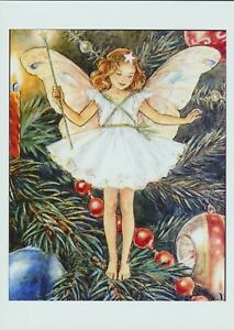 Art Print Season CHRISTMAS TREE FAIRY Wand Star Wish Candle  Bauble Beads
