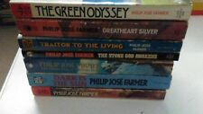 Lot of 7 Vintage Philip Jose Farmer Paperback Science Fiction Books