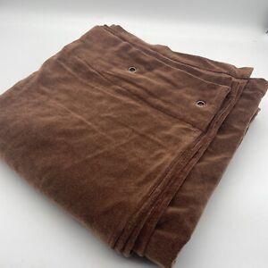 New Nyodhi Velvet Curtain 100% Cotton 220cm SINGLE Eyelet Bronze Brown