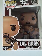 * New Wwe Wrestling Funko Pop! The Rock Vinyl Figure #03 2013 Dwayne Johnson
