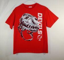 New Jersey Devils NHL Hockey Helmet T Shirt MAJESTIC Size YOUTH LARGE L