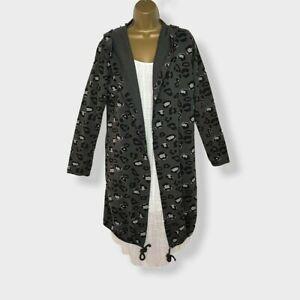 NEU mit Kapuze grau Parka Jacket Lightweight Frauen Italienische Größe UK 12 14 16 18