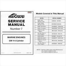 83-93 MerCruiser #7 GM V-6 Cylinder Marine Engines Service Repair Manual CD - V6