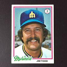 1978 Topps JIM TODD #333 Seattle Mariners