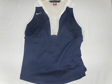 Nike Dri Fit Workout Running Top Shirt Blue White Mesh Athletic Sz Small 4 - 6