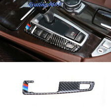 Real Carbon Fiber Gear Shift Button Cover Trim For BMW F10 5 Series 2011-2017