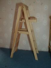 5 INCH WOODEN STEP LADDER -  DOLL HOUSE MINIATURE