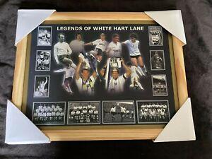 "TOTTENHAM LEGENDS OF WHITE HART LANE FRAMED PRINT 17.5"" X 16.5"" NO GLASS/PERSPEX"