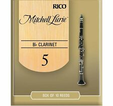 1 Box of 10 Rico Mitchell Lurie Standard (RML10BCL500) Bb Clarinet Reeds Size: 5